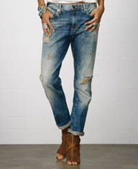 Denim And Supply Ralph Lauren Distressed Boyfriend Jeans Oceanside Wash