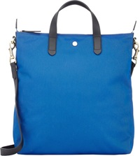 Mismo Monogram Small Shopper Tote Blue