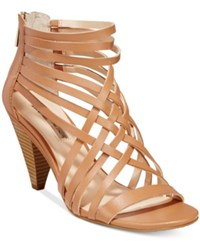 Inc International Concepts Garoldd Strappy High Heel Dress Sandals Only At Macy's Women's Shoes Honey