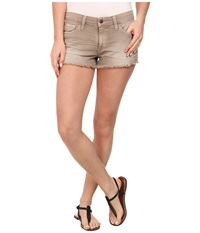 Joe's Jeans Collector's Edition Cut Off Shorts In Distressed Colors Mushroom Women's Shorts Gray
