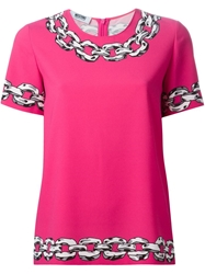 Moschino Cheap And Chic Chain Print T Shirt