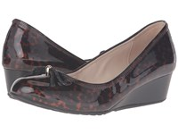 Cole Haan Tali Grand Lace Wedge 40 Tortoise Print Patent Print Women's Slip On Shoes Brown