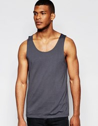 Asos Relaxed Vest In Washed Black Black