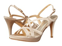 Stuart Weitzman Bridal And Evening Collection Axis Blonde Satin High Heels Gold