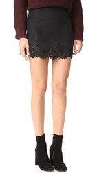 Stone_Cold_Fox Jade Silk Lace Skirt Black