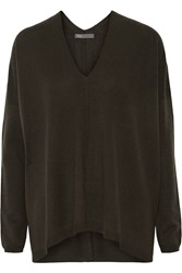 Vince Wool And Cashmere Blend Sweater Green