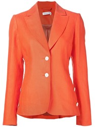 Altuzarra Two Button Blazer Yellow And Orange