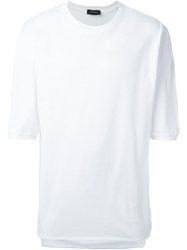Kris Van Assche Loose Fit Pique T Shirt White