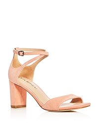 Via Spiga Wendi Crisscross Ankle Strap High Heel Sandals Salmon