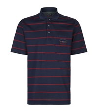 Paul And Shark Thin Red Stripe Polo Shirt Male Navy