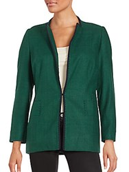 Zang Toi Solid Long Sleeve Jacket Ocean Green