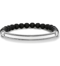 Thomas Sabo Love Bridge Silver And Obsidian Bracelet