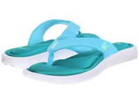 Nike Comfort Thong Gamma Blue Rio Teal White Electric Green Women's Sandals