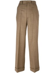 Comme Des Garcons Junya Watanabe Tailored Palazzo Pants Nude Neutrals