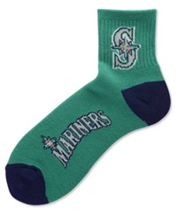 For Bare Feet Seattle Mariners Ankle Socks Navy Green