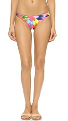 Mara Hoffman Fractals Low Rise Bikini Bottoms Peach Multi