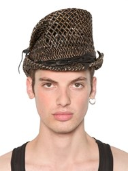 Move Asymmetrical Woven Straw Top Hat