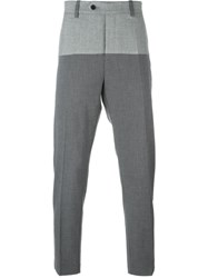 Ejxiii Panelled Cropped Trousers Grey