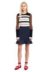 Opening Ceremony William Circle Hem Mini Skirt Deep Navy
