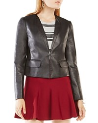 Bcbgmaxazria Cruz Faux Leather Blazer Black