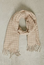 Forever 21 Men Fringed Woven Scarf Taupe