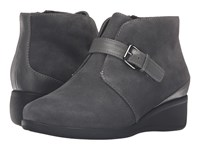 Trotters Mindy Dark Grey Cow Suede Leather Women's Boots Gray