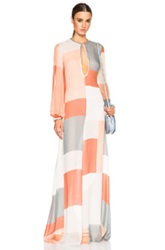 Zimmermann Arcadia Teardrop Sheath Dress In Orange Red Geometric Print White