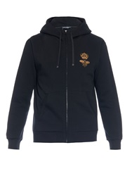 Dolce And Gabbana Embellished Jersey Hooded Sweatshirt