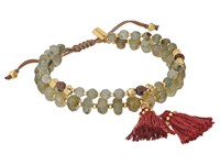 Chan Luu 6' Adjustable Light Blue Mix Double Strand Single Bracelet Labradorite Mix Bracelet Silver
