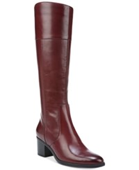 Naturalizer Harbor Tall Wide Calf Boots Women's Shoes Classic Cordovan