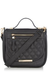 Oasis Quinn Quilted Saddle Bag Black