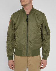 Denim And Supply Ralph Lauren Khaki Nylon Bomber Jacket