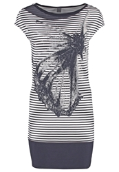 S.Oliver Jersey Dress Blue Placed Print