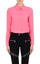 Givenchy Women's Satin Back Crepe Blouse Pink