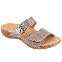 Gabor Shani Wide Double Strap Sandals Pewter