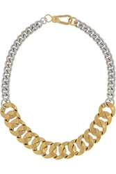 Marc By Marc Jacobs Katie Gold Plated And Silver Plated Choker