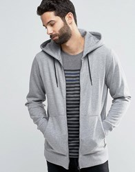 Only And Sons Zip Through Flecked Jersey Sweater Light Grey Melange