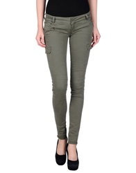 Camouflage Ar And J. Casual Pants Military Green