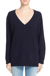 Alexander Wang Women's T By Wool And Cashmere V Neck Sweater Marine
