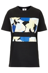 Abstract Flower Print Tee By Unique Black