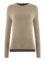 Simon Jeffrey Soft Knitted Jumper Brown