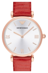 Emporio Armani Round Watch 32Mm Regular Retail Price 295 Red