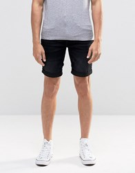 Blend Of America Twister Slim Denim Shorts Black Washed Black