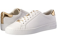 Michael Michael Kors Irving Lace Up Optic Gold Vachetta Mirror Metallic Women's Lace Up Casual Shoes White