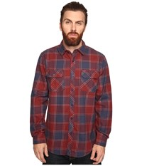Tavik Vincent Oxblood Nightshade Men's Long Sleeve Button Up Navy