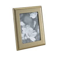 Graphic Image Photo Frame 5'X7' Gold Leather