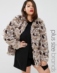 Junarose Faux Fur Jacket Multi