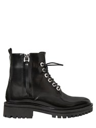 Kendall Kylie 30Mm Polished Leather Lace Up Boots