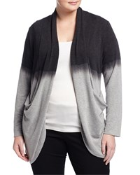 Cirana Plus Dip Dye Cocoon Cardigan Heather Gray Charcoal