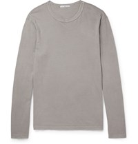 James Perse Washed Cotton Jersey T Shirt Light Gray